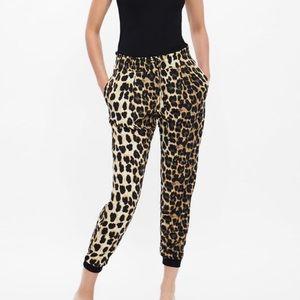Zara Animal Print Pants Size M